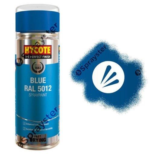 Hycote-Blue-Gloss-Spray-Paint-Aerosol-Auto-All-Purpose-RAL-5012-400ml-XUK994-392295496929