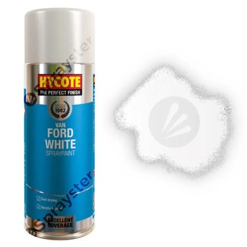 Hycote-Ford-Van-White-Gloss-Spray-Paint-Aerosol-Auto-Multi-Purpose-400ml-XUK479-392297897181