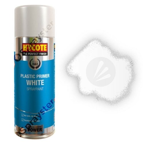 Hycote-White-Plastic-Primer-Spray-Paint-Aerosol-Auto-Car-400ml-XUK610-392295219826