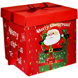 large premium christmas eve gift box lid ribbon handles xmas present santa 2