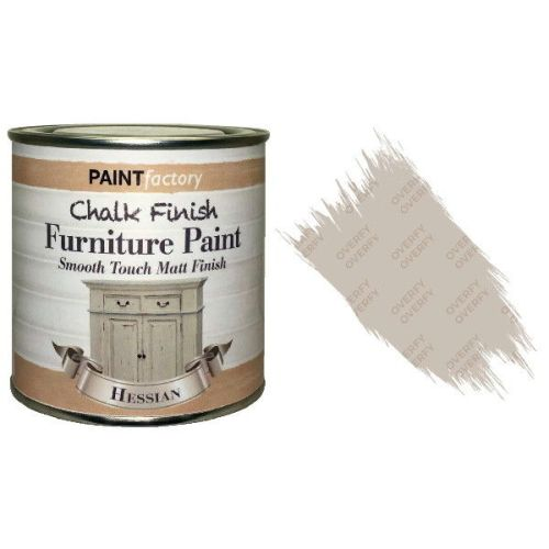Paint-Factory-Chalk-Chalky-Furniture-Paint-250ml-Hessian-Matt-391881656143