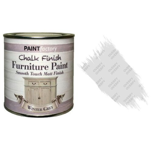 Paint-Factory-Chalk-Chalky-Furniture-Paint-250ml-Winter-Grey-Matt-332370228553