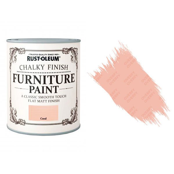 Rust-Oleum-Chalk-Chalky-Furniture-Paint-Chic-Shabby-125ml-Coral-Matt-331825010099