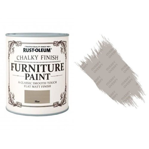 Rust-Oleum-Chalk-Chalky-Furniture-Paint-Chic-Shabby-125ml-Flint-Matt-371594510788