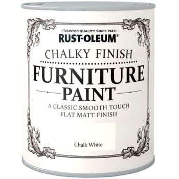 Rust-Oleum-Chalk-Chalky-Furniture-Paint-Chic-Shabby-125ml-White-Matt-391428357613