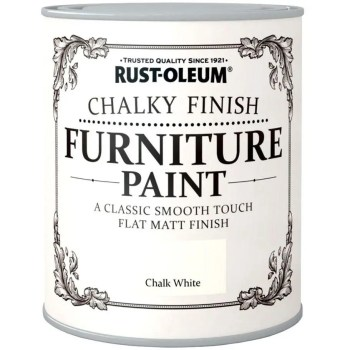 Rust-Oleum-Chalk-Chalky-Furniture-Paint-Chic-Shabby-125ml-White-Matt-391428357613