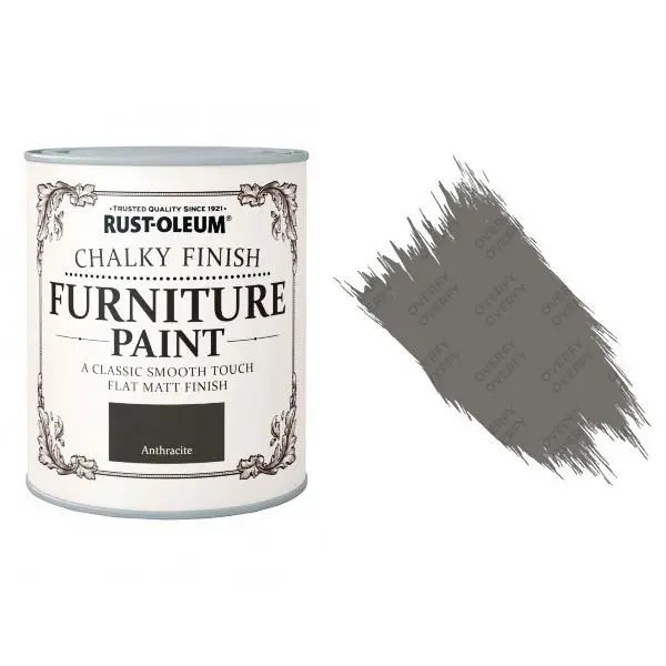 Rust-Oleum-Chalk-Chalky-Furniture-Paint-Chic-Shabby-750ml-Anthracite-Matt-331824910288
