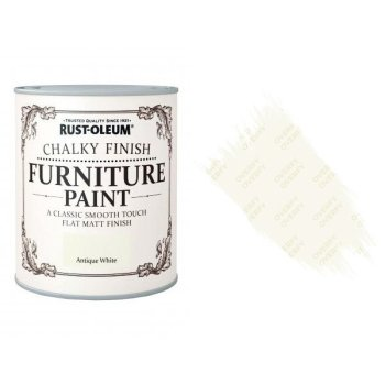 Rust-Oleum-Chalk-Chalky-Furniture-Paint-Chic-Shabby-750ml-Antique-White-Matt-391428379048
