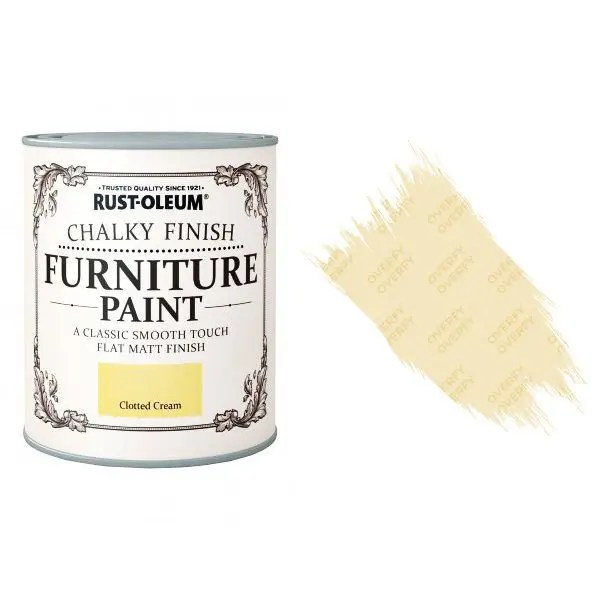 Rust-Oleum-Chalk-Chalky-Furniture-Paint-Chic-Shabby-750ml-Clotted-Cream-Matt-391428379049