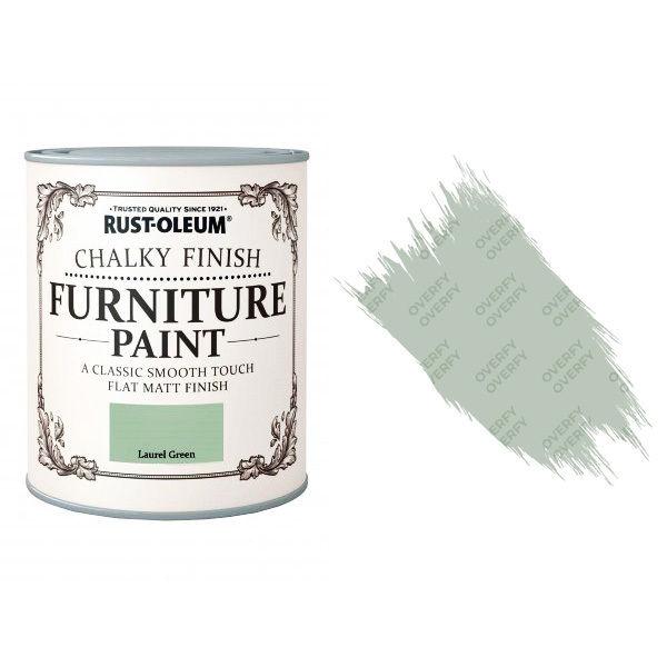Rust-Oleum-Chalk-Chalky-Furniture-Paint-Chic-Shabby-750ml-Laurel-Green-Matt-371594535328