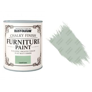Rust-Oleum-Chalk-Chalky-Furniture-Paint-Chic-Shabby-750ml-Laurel-Green-Matt-371594535328
