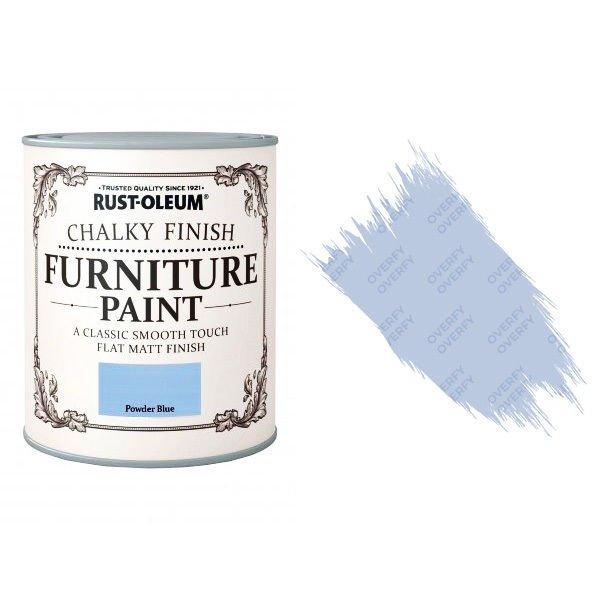 Rust-Oleum-Chalk-Chalky-Furniture-Paint-Chic-Shabby-750ml-Powder-Blue-Matt-371594535327