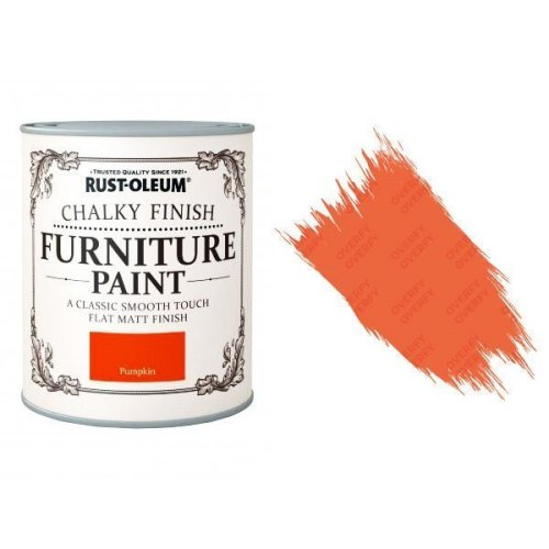 Rust-Oleum-Chalk-Chalky-Furniture-Paint-Chic-Shabby-750ml-Pumpkin-Matt-331825035125