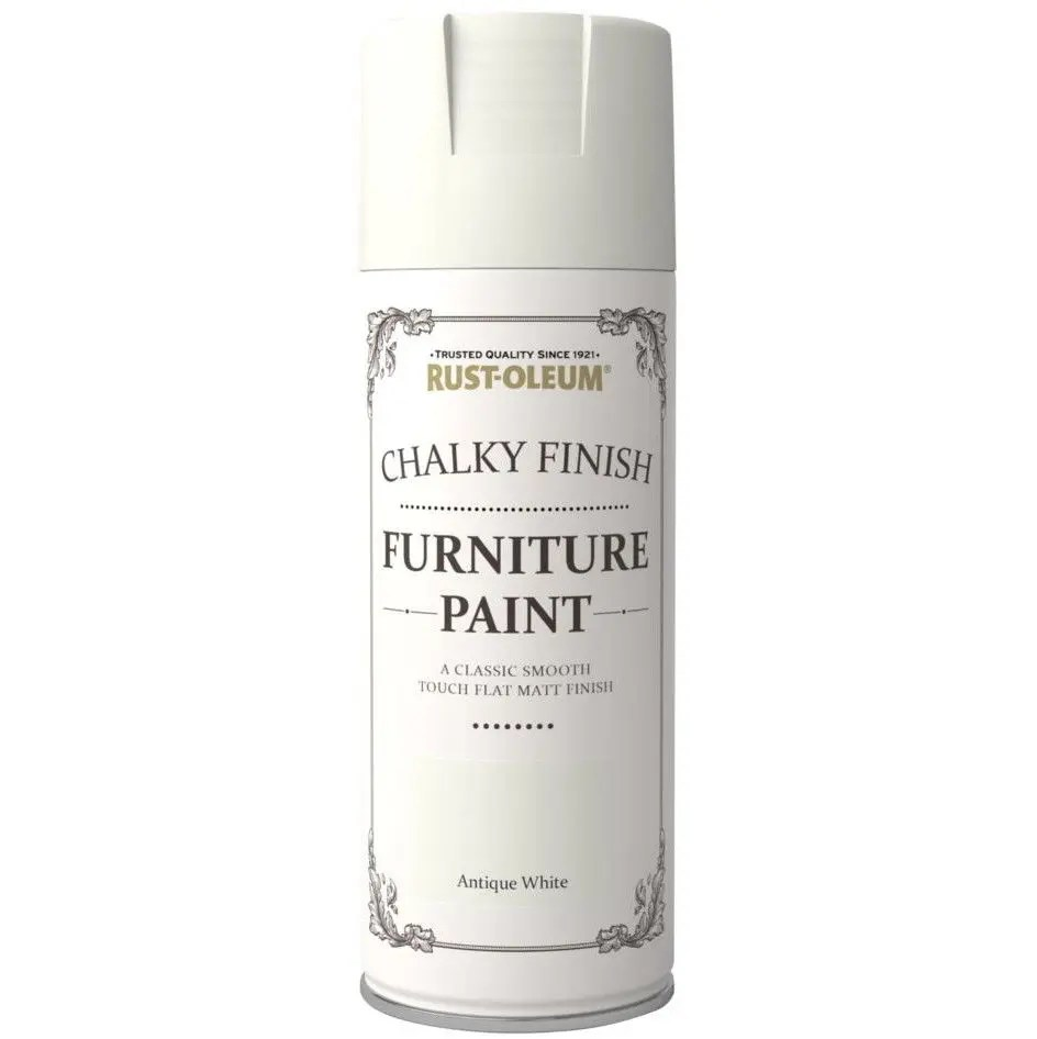 Rust Oleum 400ml Antique White Spray Paint Chalk Chalky