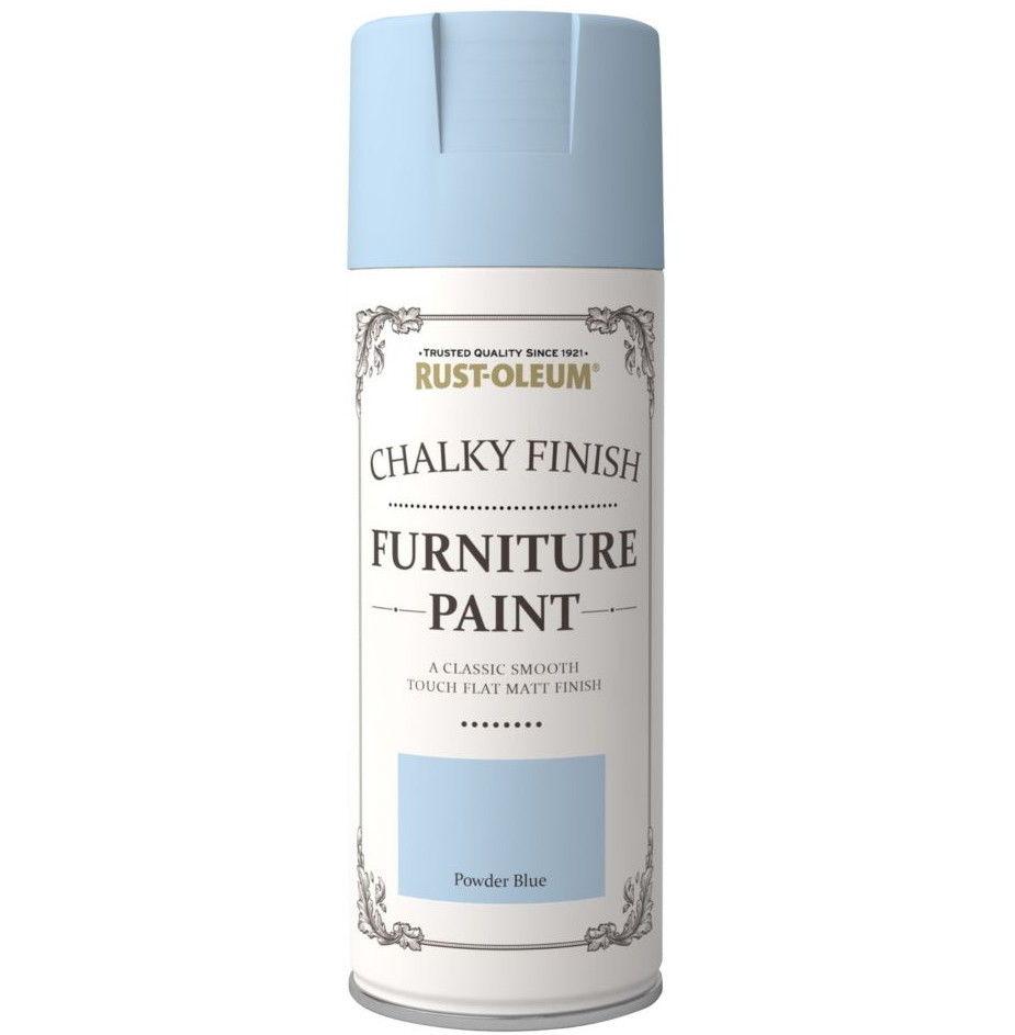 rust oleum 400ml powder blue spray paint chalk chalky furniture