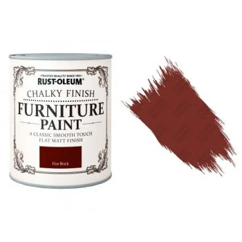 Rust-Oleum-Chalky-Furniture-Paint-Chic-Shabby-750ml-Fire-Brick-400ml-Clear-Wax-371595314320-2