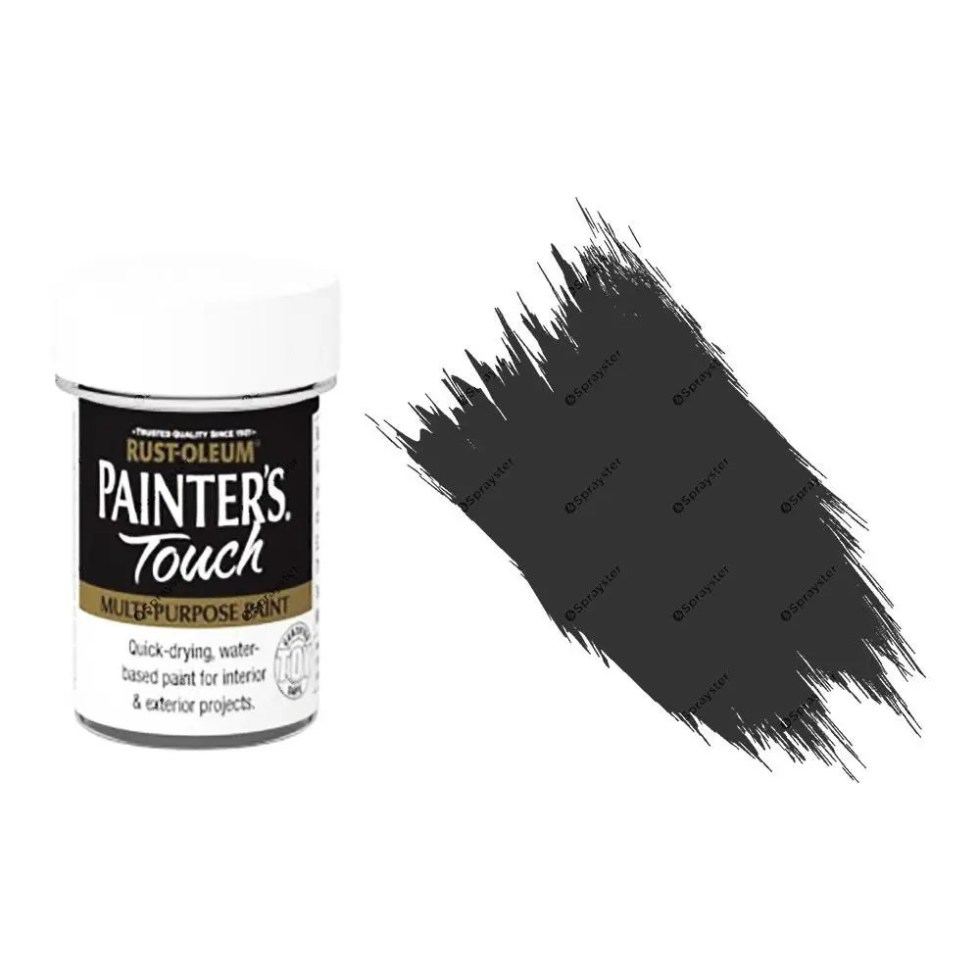 Rust-Oleum-Painters-Touch-Multi-Surface-Paint-Black-Matt-20ml-Toy-Safe-372243288442