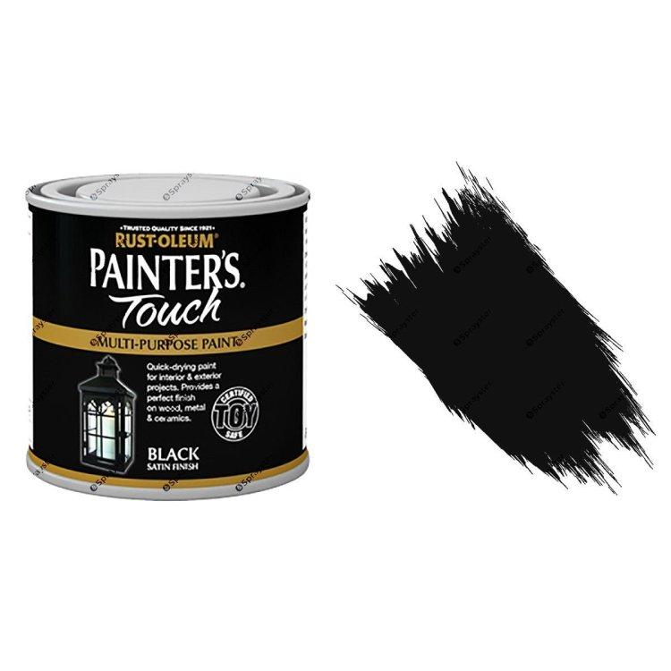 Rust-Oleum-Painters-Touch-Multi-Surface-Paint-Black-Satin-250ml-Toy-Safe-332573157090