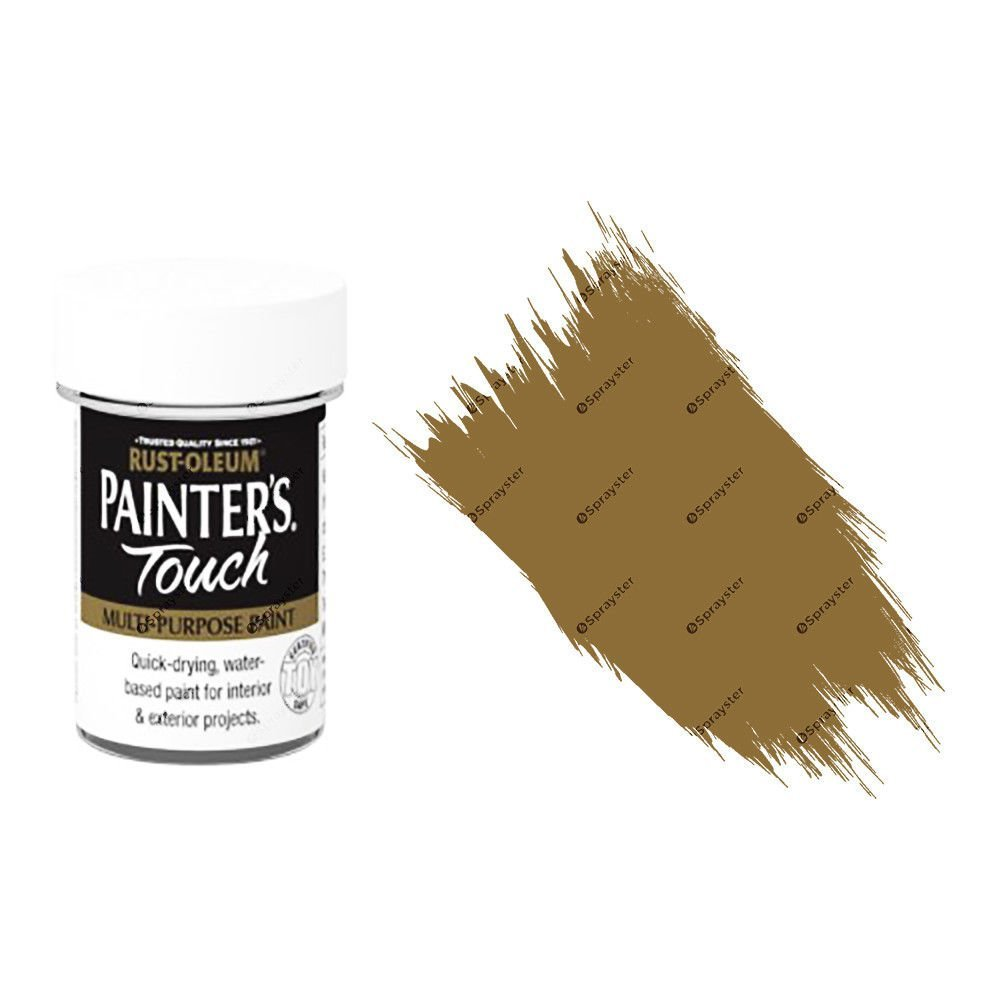 Rust-Oleum-Painters-Touch-Multi-Surface-Paint-Cinnamon-Brown-Gloss-20ml-Toy-Safe-332579962220