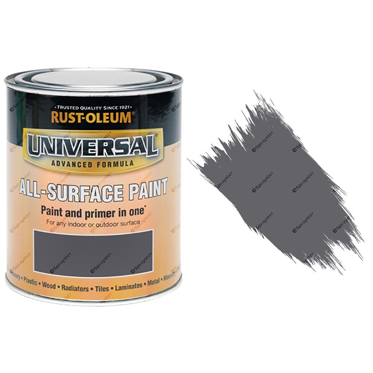 Rust-Oleum-Universal-All-Surface-Self-Primer-Brush-Paint-Gloss-Dark-Grey-750ml-372229316275