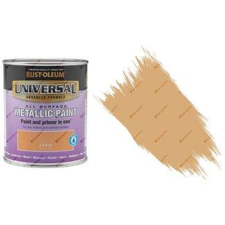 Rust-Oleum-Universal-All-Surface-Self-Primer-Brush-Paint-Metallic-Gold-250ml-391986702362