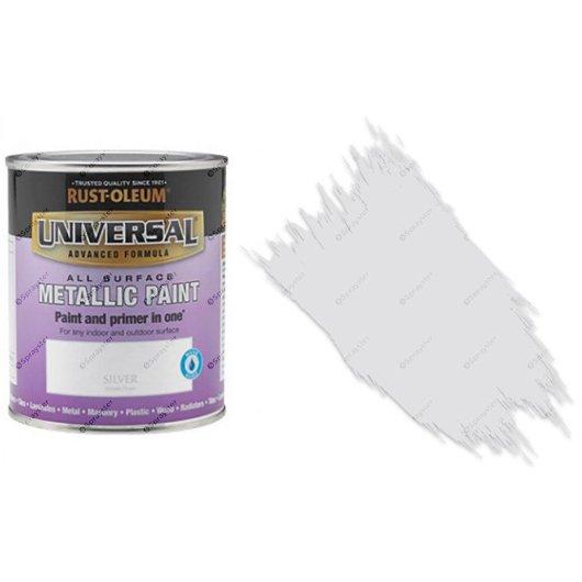 Rust-Oleum-Universal-All-Surface-Self-Primer-Brush-Paint-Metallic-Silver-750ml-372229316285