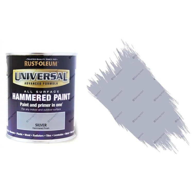 Rust-Oleum-Universal-All-Surface-Self-Primer-Paint-Hammered-Finish-Silver-750ml-332563353687