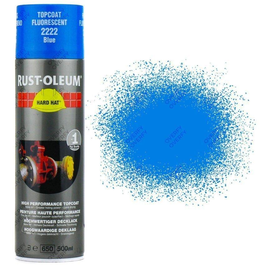 High Coverage Rust Oleum Fluorescent Blue Neon 500ml Sprayster