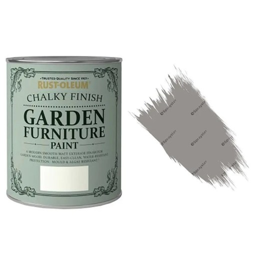 Rust-Oleum Chalky Finish Garden Furniture Paint Anthracite 750ml