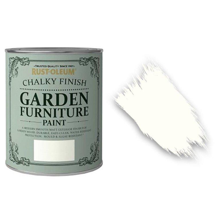 x1-Rust-Oleum-Chalk-Chalky-Garden-Furniture-Brush-Paint-750ml-Chalk-White-Matt-391971282414