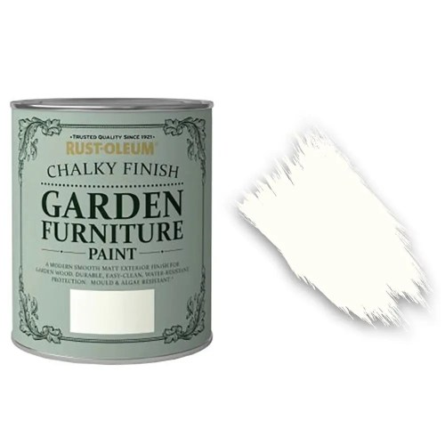 x1-Rust-Oleum-Chalk-Chalky-Garden-Furniture-Brush-Paint-750ml-Chalk-White-Matt-391971282414
