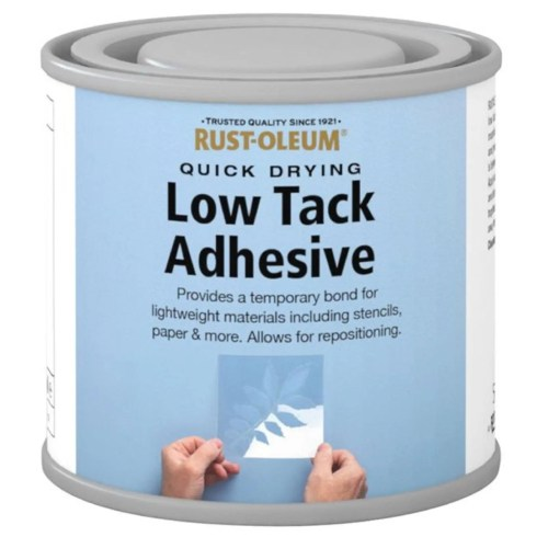 x1-Rust-Oleum-Low-Tack-Adhesive-Clear-Repositionable-Durable-Brush-Paint-125ml-372285884790