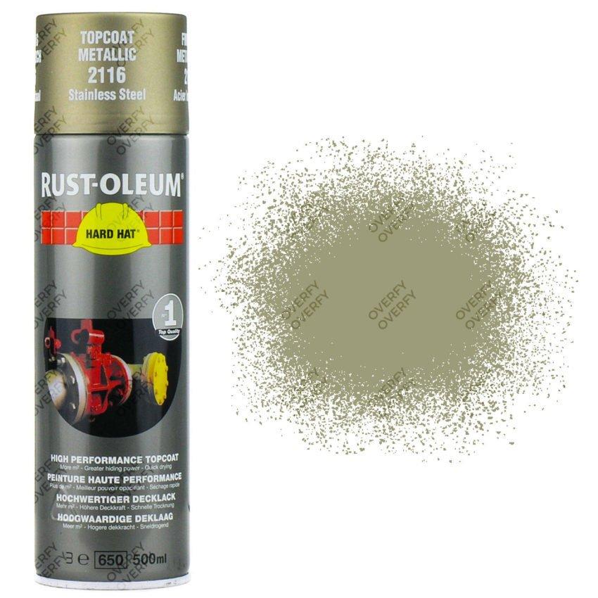 Rust Oleum Stainless Steel Silver Metallic Spray Paint Hard Hat