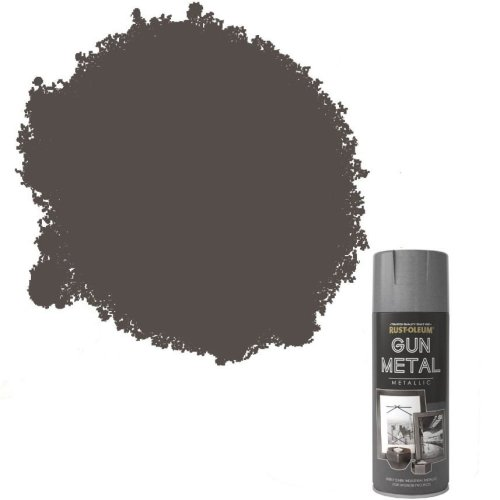 Rust-Oleum Metallic Gun Metal Grey Spray Paint 400ml