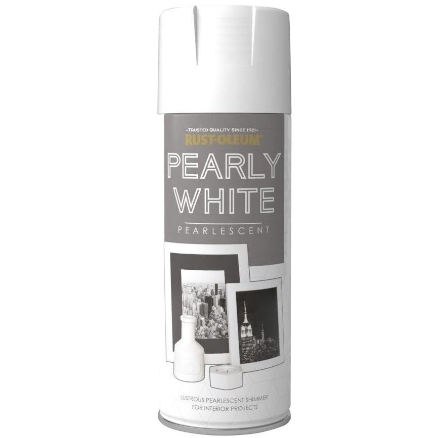 Rust-Oleum Metallic Pearly White Spray Paint 400ml