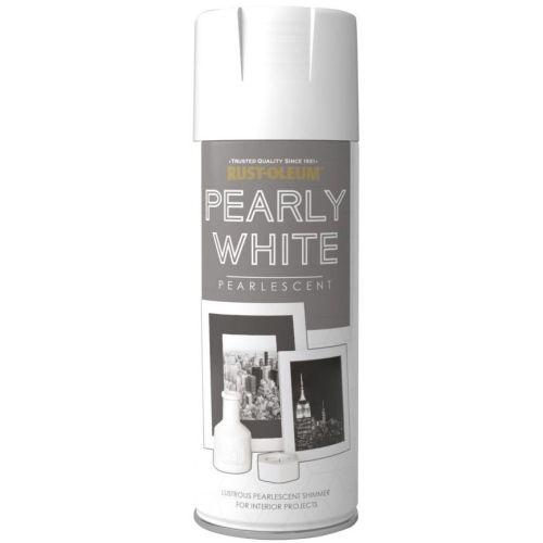 x1-Rust-Oleum-Multi-Purpose-Premium-Spray-Paint-400ml-Metallic-Pearly-White-332363106004