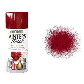 Rust-Oleum Red Balmoral Gloss Spray Paint Painter's Touch Craft Enamel 150ml