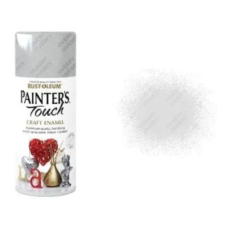 Rust-Oleum Silver Metallic Spray Paint Painter's Touch Craft Enamel 150ml