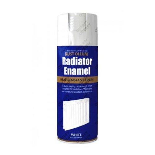 Rust-Oleum Gloss White Radiator Enamel Spray Paint 400ml