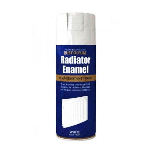 Rust-Oleum Satin White Radiator Enamel Spray Paint 400ml