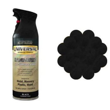 Rust-Oleum Hammered Black Universal Spray Paint 400ml