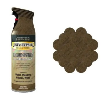 Rust-Oleum Hammered Brown Universal Spray Paint 400ml
