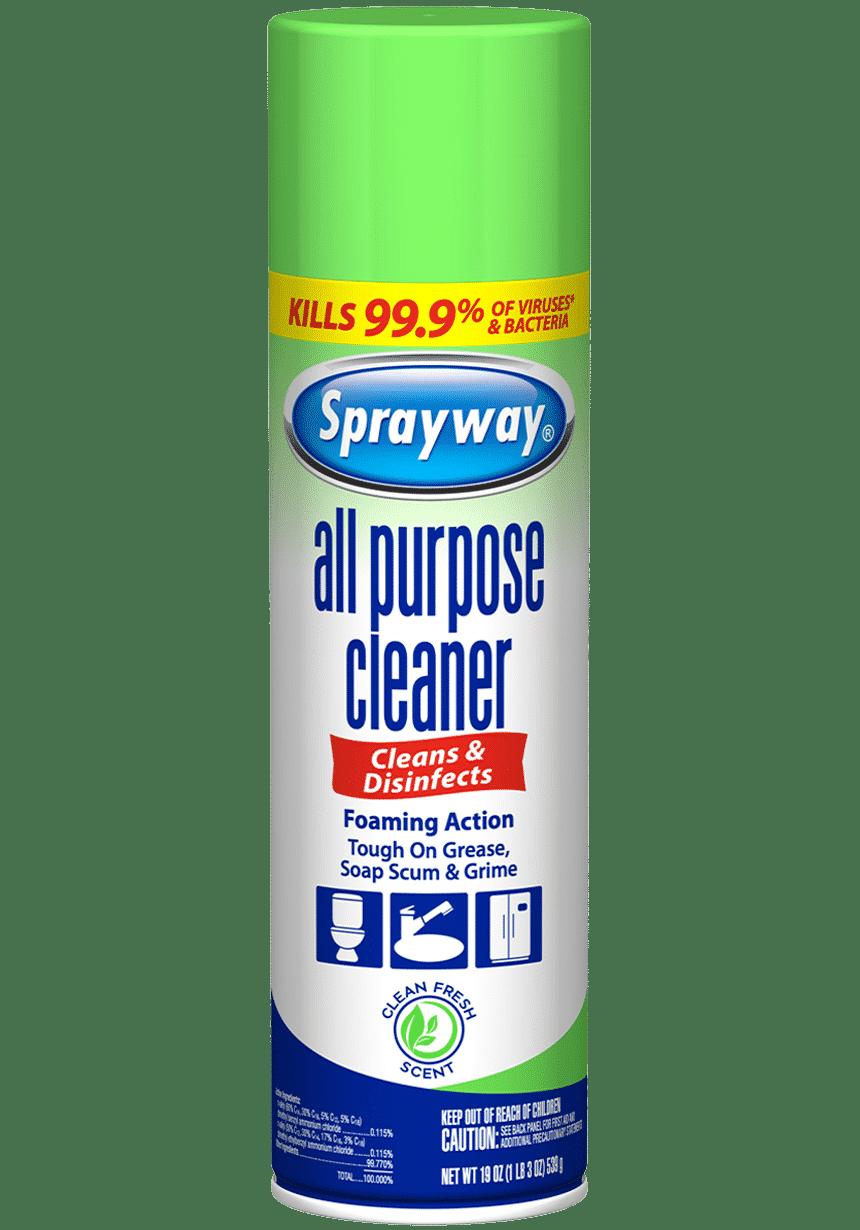 sprayway all purpose cleaner aerosol spray