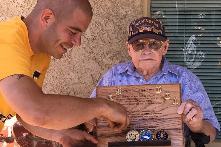 Ernest Thompson: WWII Vet Surprised By Navy In Big Way