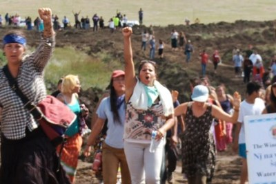 Standing Rock Protesters: Water Cannons Were Used Against Pipeline Critics
