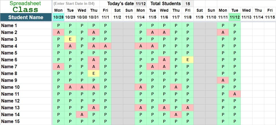 Read our report on diversity, equ. Attendance Tracker Templates For Google Sheets