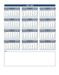 calendar notes at bottom