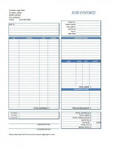 Job Invoice Template