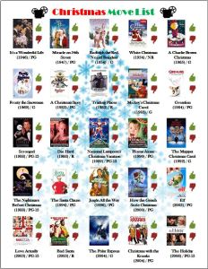 Best Christmas Movies Printable