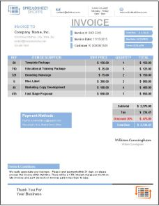 Invoice Template Everest Blue